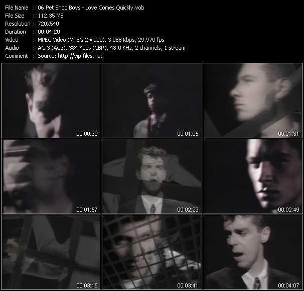 video Love Comes Quickly screen