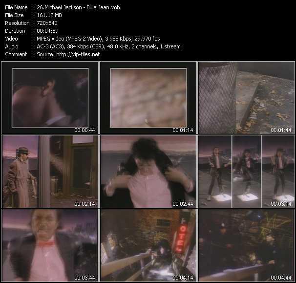 video Billie Jean screen