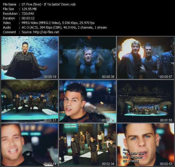 Five (5ive) video screenshot