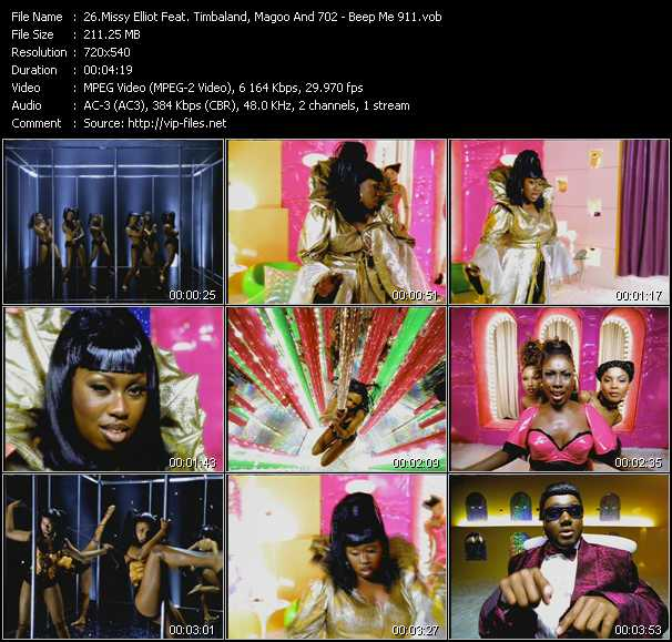 Missy Elliott Feat. Timbaland, Magoo And 702 video screenshot