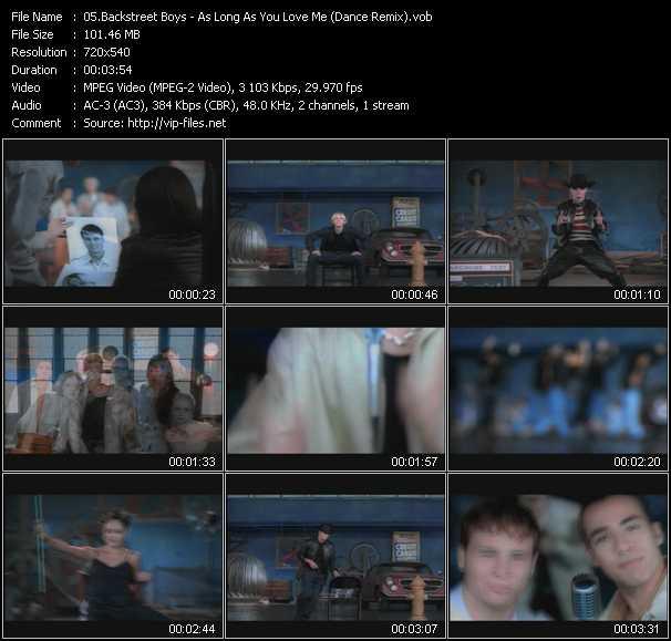 video As Long As You Love Me (Dance Remix) screen