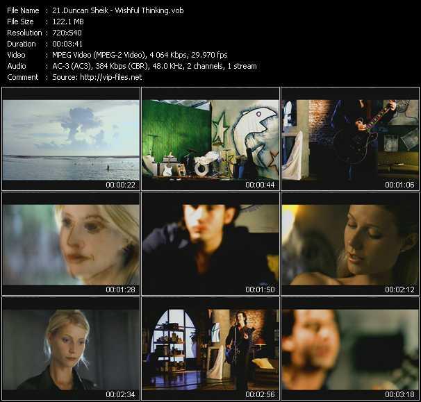 Duncan Sheik video screenshot