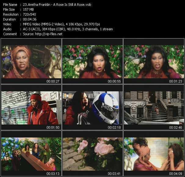 Aretha Franklin video screenshot