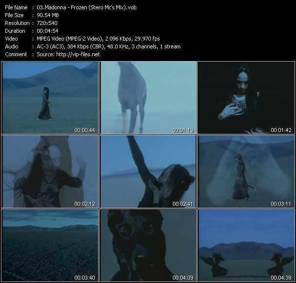 video Frozen (Stero Mc's Mix) screen