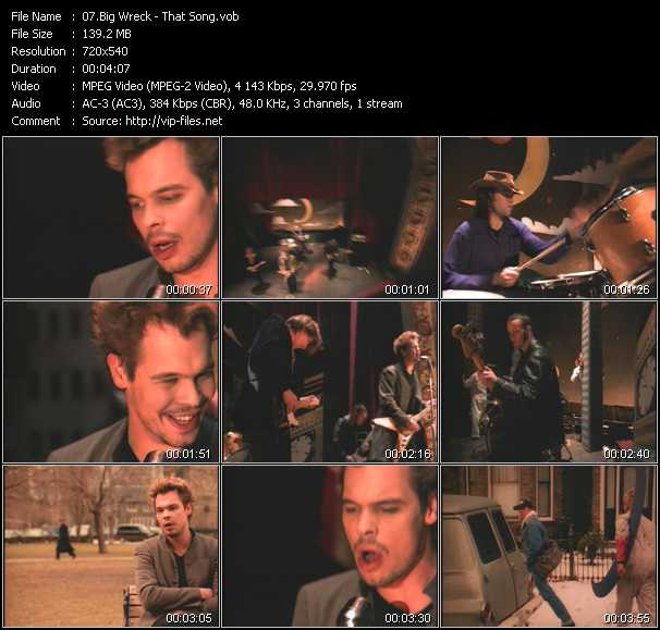 Big Wreck video screenshot