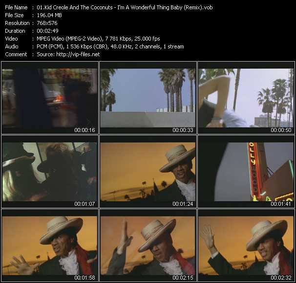 Kid Creole And The Coconuts video screenshot