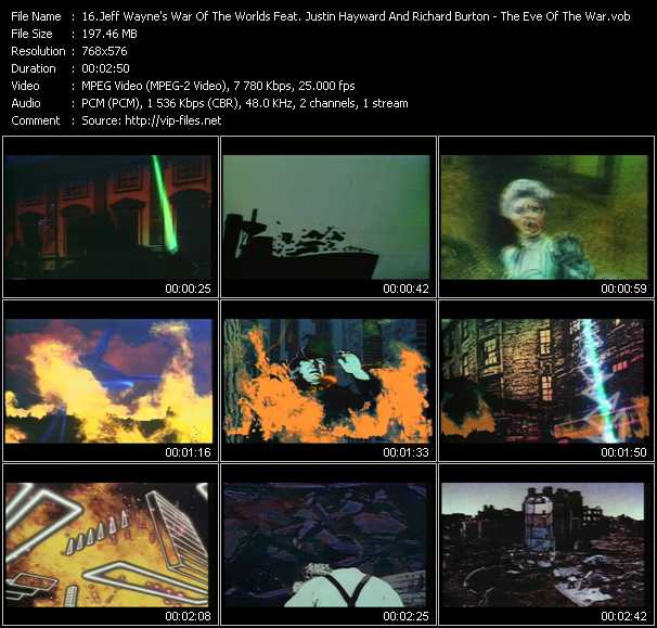 Jeff Wayne And Ben Liebrand (Jeff Wayne's War Of The Worlds Feat. Justin Hayward And Richard Burton) video screenshot