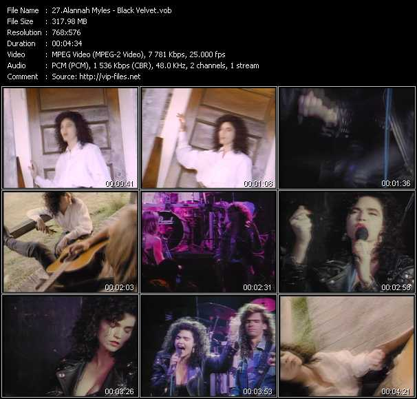 video Black Velvet screen