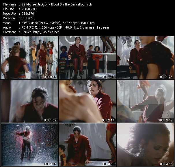 video Blood On The Dancefloor screen