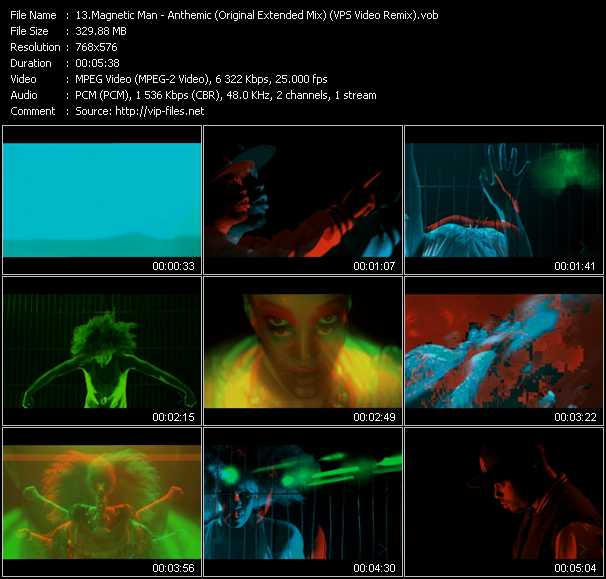 Magnetic Man video screenshot