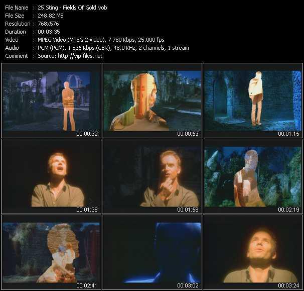 Sting video screenshot
