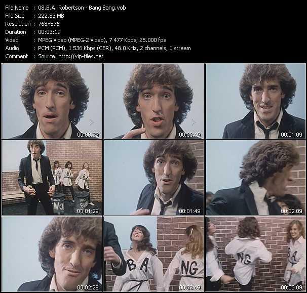 B.A. Robertson video screenshot