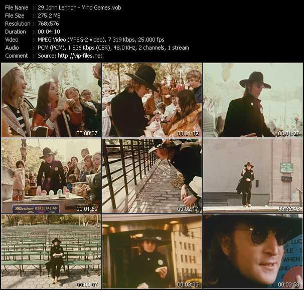 John Lennon video screenshot