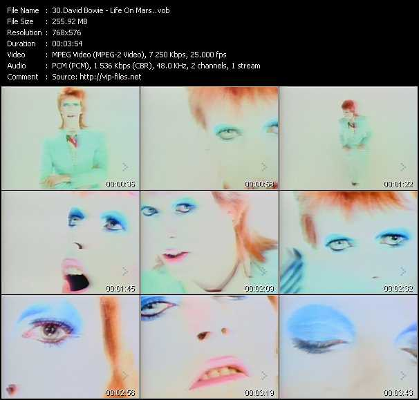 David Bowie video screenshot