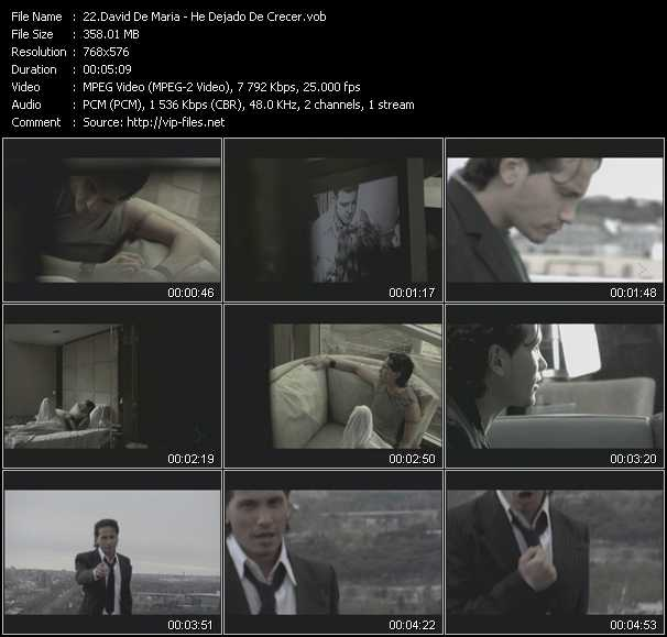 David De Maria video screenshot