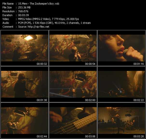 Mew video screenshot