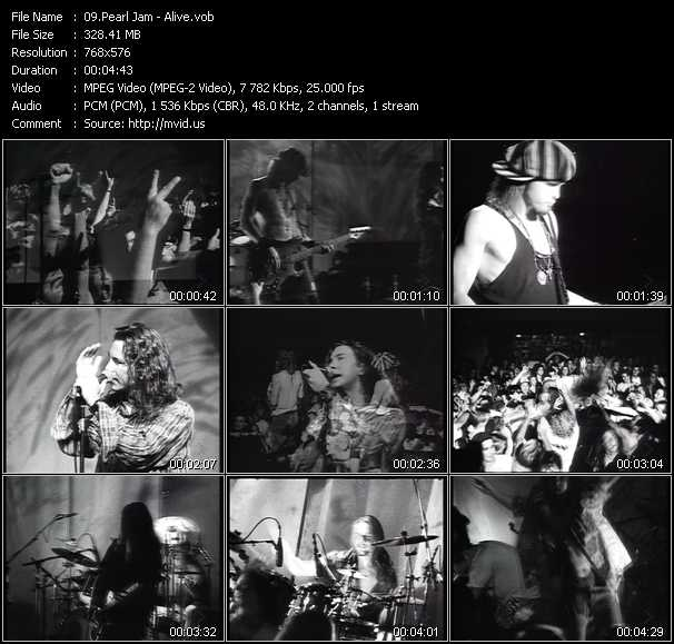 Pearl Jam video screenshot