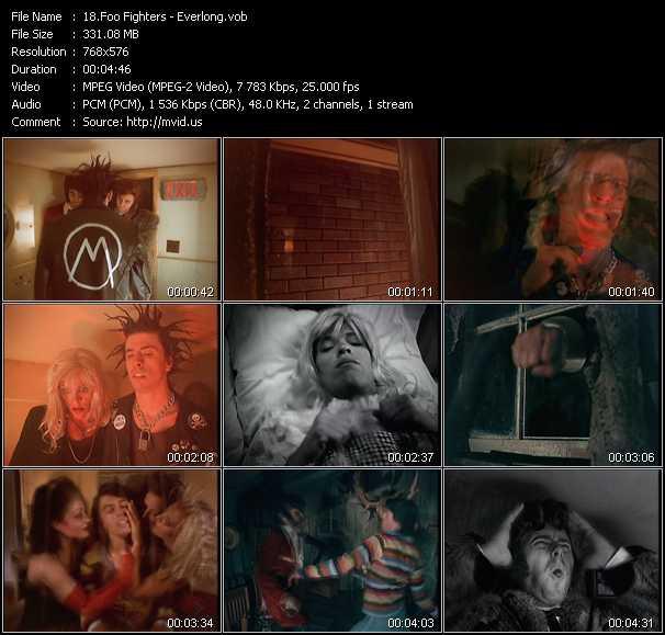 video Everlong screen