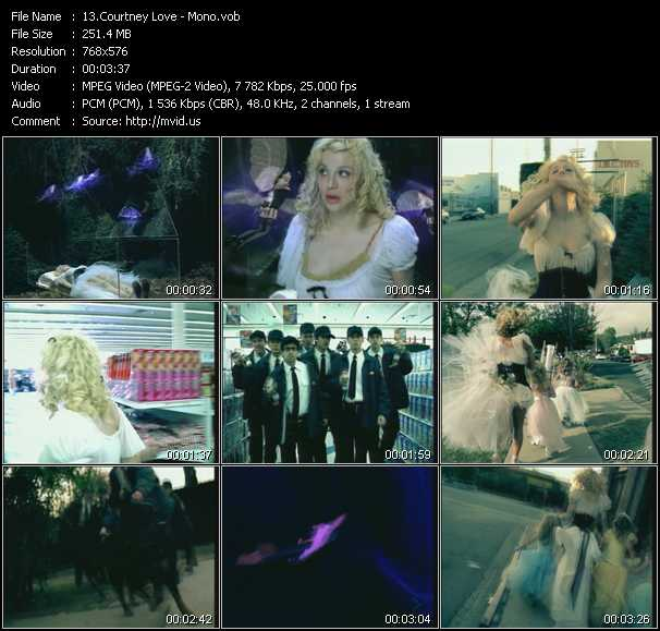Courtney Love video screenshot