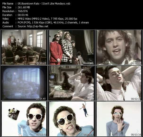 Boomtown Rats video screenshot