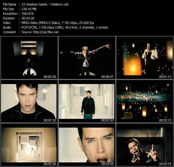 Stephen Gately video screenshot