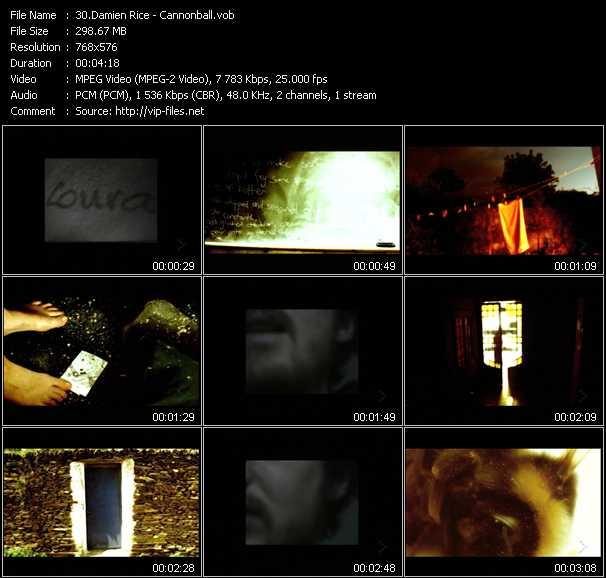Damien Rice video screenshot