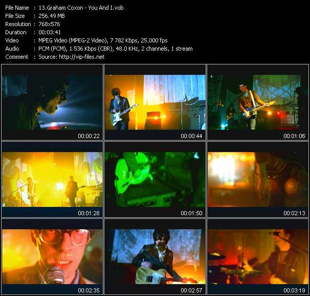 Graham Coxon video screenshot
