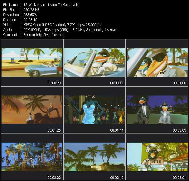 Walkerman video screenshot