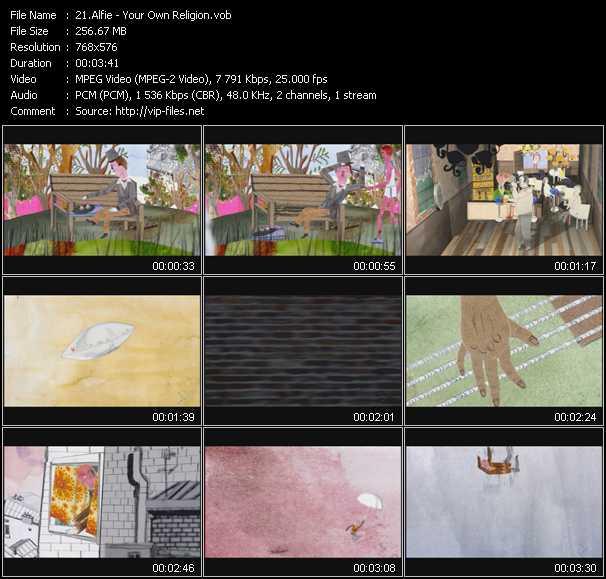 Alfie video screenshot