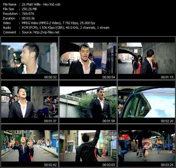 Matt Willis video screenshot