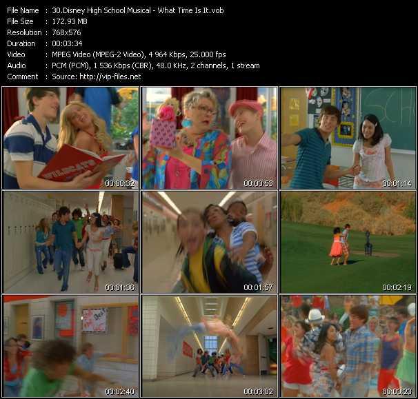 Disney High School Musical video screenshot