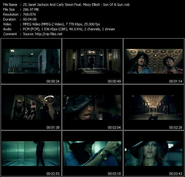Janet Jackson And Carly Simon Feat. Missy Elliott video screenshot