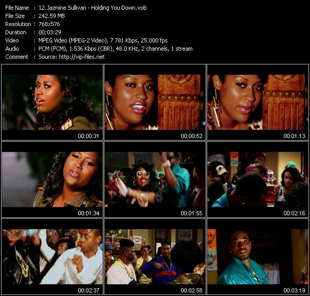 Jazmine Sullivan video screenshot