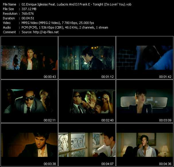 Enrique Iglesias Feat. Ludacris And Dj Frank E video screenshot