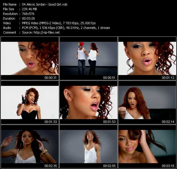 Alexis Jordan video screenshot