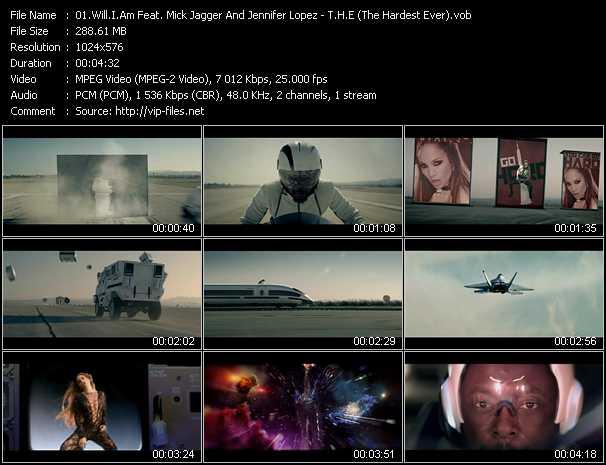 video T.H.E (The Hardest Ever) screen