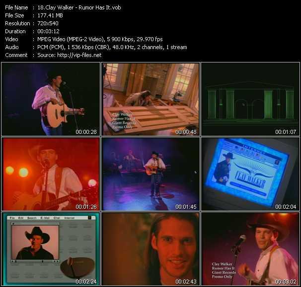 Clay Walker video screenshot