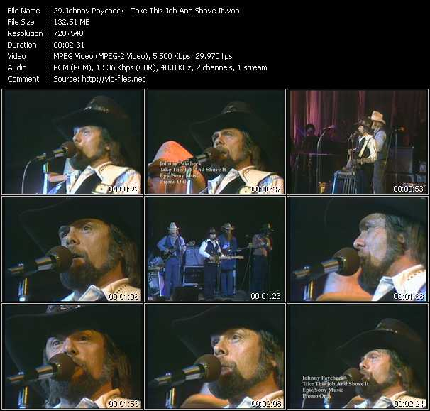 Johnny Paycheck video screenshot