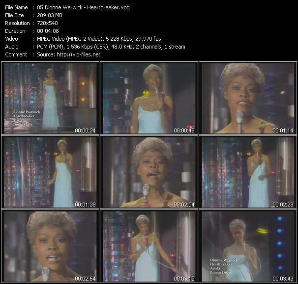 Dionne Warwick video screenshot