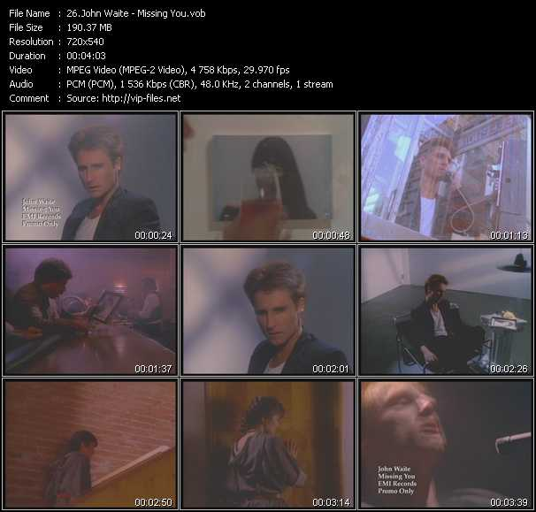 John Waite video screenshot