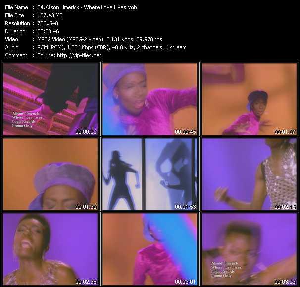 Alison Limerick video screenshot