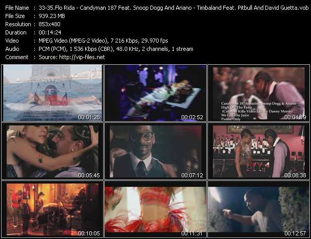Flo Rida - Candyman 187 Feat. Snoop Dogg And Ariano - Timbaland Feat. Pitbull And David Guetta video screenshot