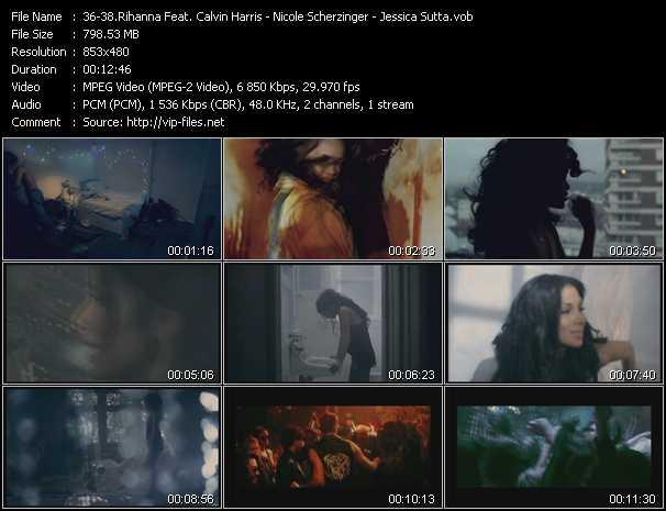 Rihanna Feat. Calvin Harris - Nicole Scherzinger - Jessica Sutta video screenshot