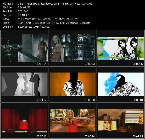 Aurora Feat. Naimee Coleman - 4 Strings - Kate Ryan video screenshot