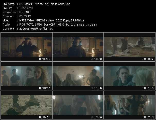 Adam F video screenshot