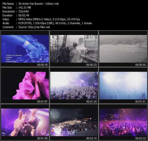 Armin Van Buuren video screenshot