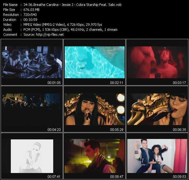 Breathe Carolina - Jessie J - Cobra Starship Feat. Sabi video screenshot