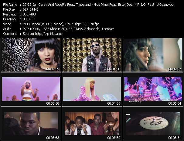 Ian Carey And Rosette Feat. Timbaland And Brasco - Nicki Minaj Feat. Ester Dean - R.I.O. Feat. U-Jean video screenshot