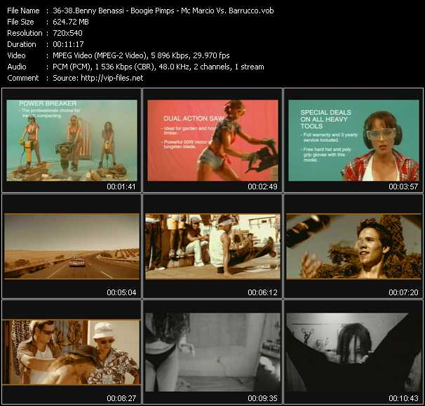 Benny Benassi - Boogie Pimps - Mc Marcio Vs. Barrucco video screenshot