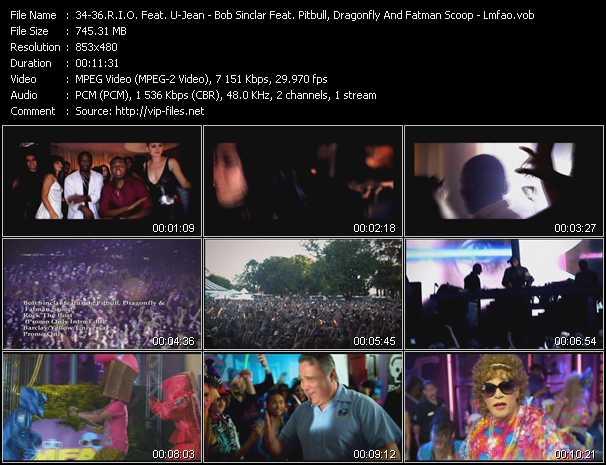 R.I.O. Feat. U-Jean - Bob Sinclar Feat. Pitbull, Dragonfly And Fatman Scoop - Lmfao video screenshot
